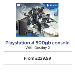 Playstation 4 500gb console with Destiny 2