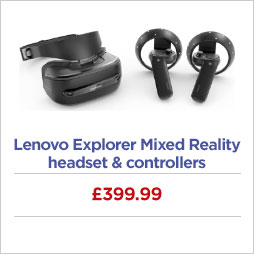 Lenovo Explorer Mixed Reality headset and controllers