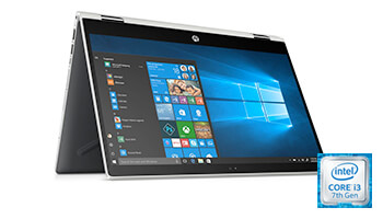 HP Pavilion x360 i3 2-in-1 Laptop with Superfast SSD Storage