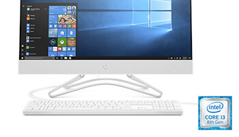 HP 24'' Intel® Core™ i3 all-in-one desktop