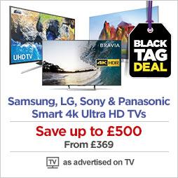 Samsung, LG & Sony 4k HDR Smart TVs