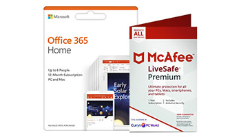 Microsoft Office 365 + McAfee LiveSafe
