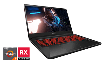 ASUS TUF 17.3'' AMD Ryzen 5 gaming laptop