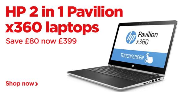 HP 2 in 1 Pavilion x360 Laptops