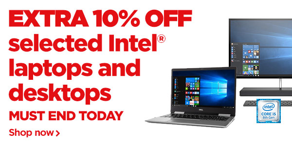 Extra 10% off Intel® laptops and desktops