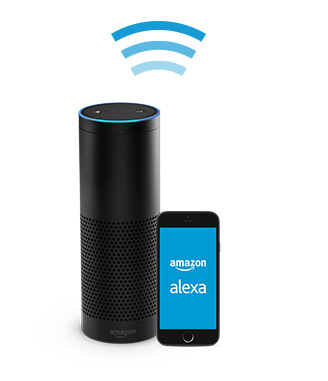 amazon echo hands free voice controlled speaker. Black Bedroom Furniture Sets. Home Design Ideas