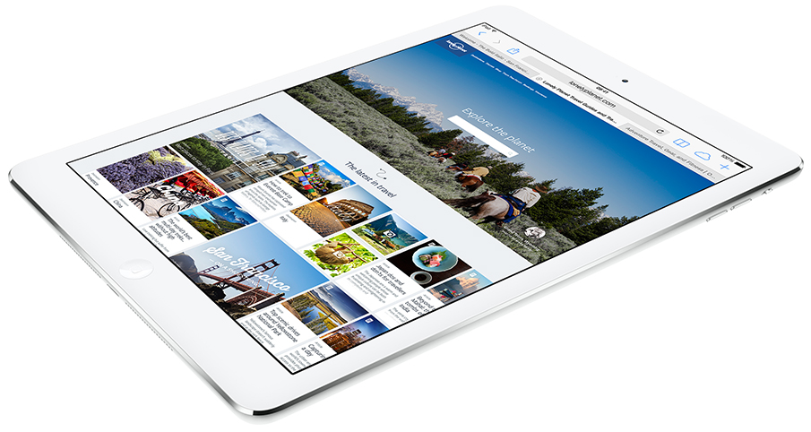 iPad Air with faster wireless connection