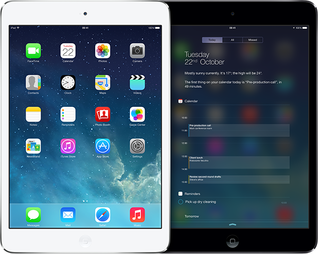 Ipad mini comes with new and improved ios7