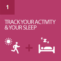 Track steps, distance, calories burned, and sleep