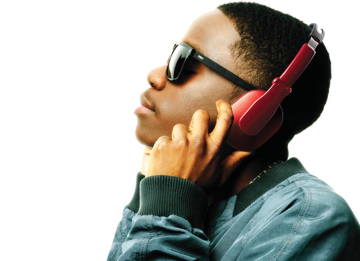 image of Tinchy Stryder with Goji headphones
